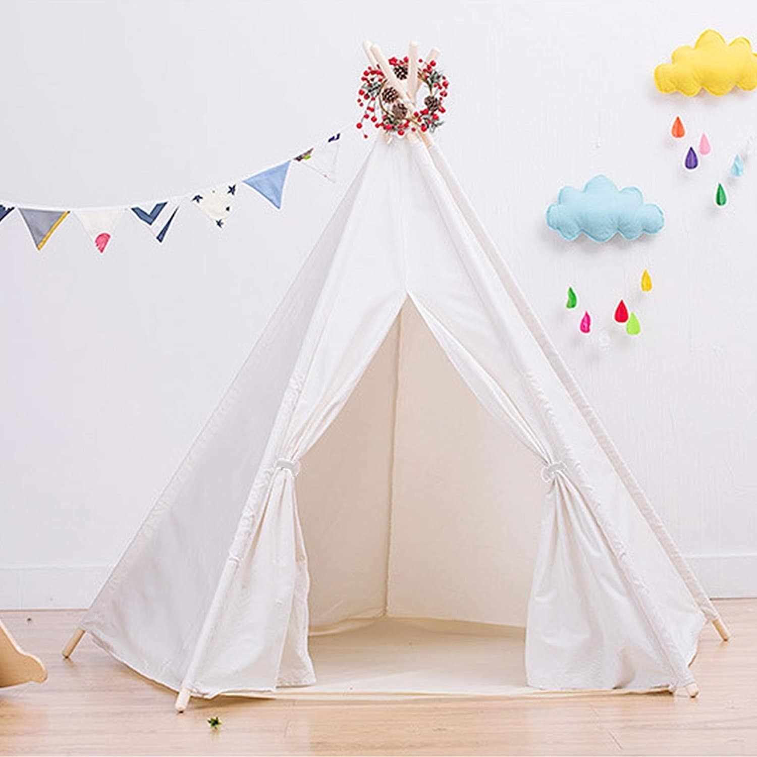 Dimple Large Cotton Canvas Teepee Tent  Free Shipping Today