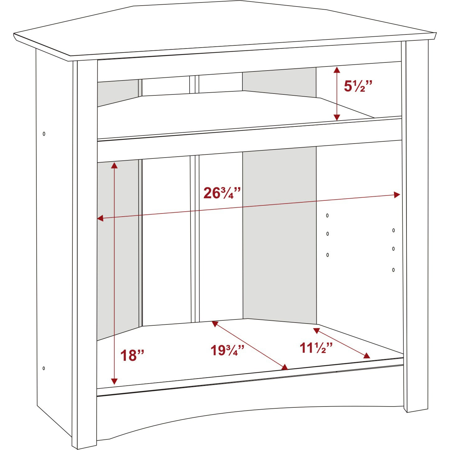 Broadway Tall Corner TV Cabinet   Free Shipping Today   Overstock.com    10475699