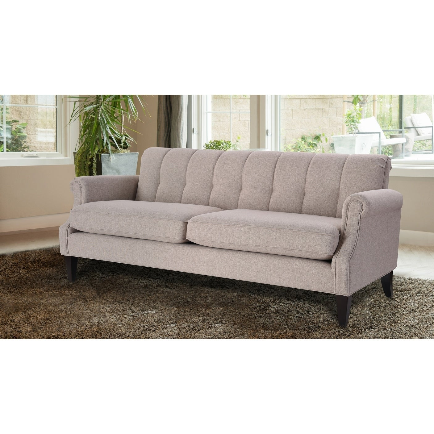 Jennifer Taylor Giotto Channel Tufted Roll Arm Sofa Free Shipping Today 22123706