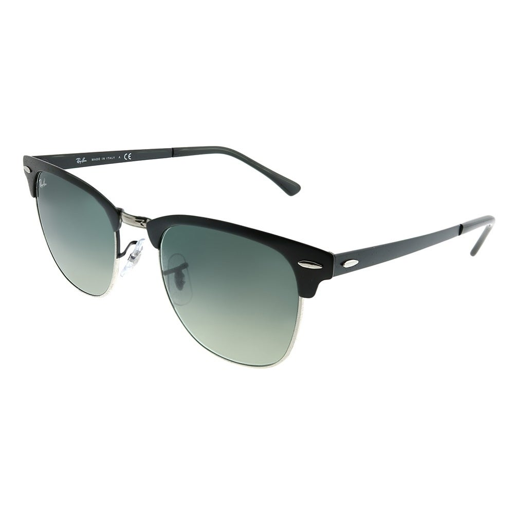 084e784b92 Ray-Ban Clubmaster RB 3716 Clubmaster Metal 911871 Unisex Matte Black on  Silver Frame Grey Gradient Lens Sunglasses