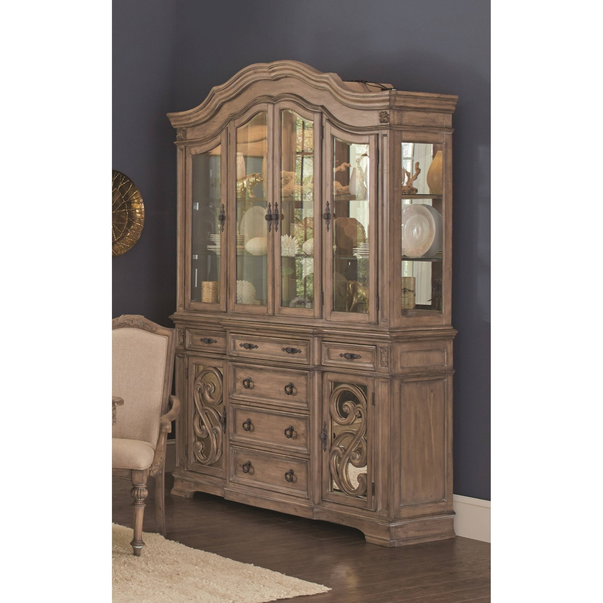 Ilana Traditional China Cabinet With Gl Doors On Free Shipping Today 22158175