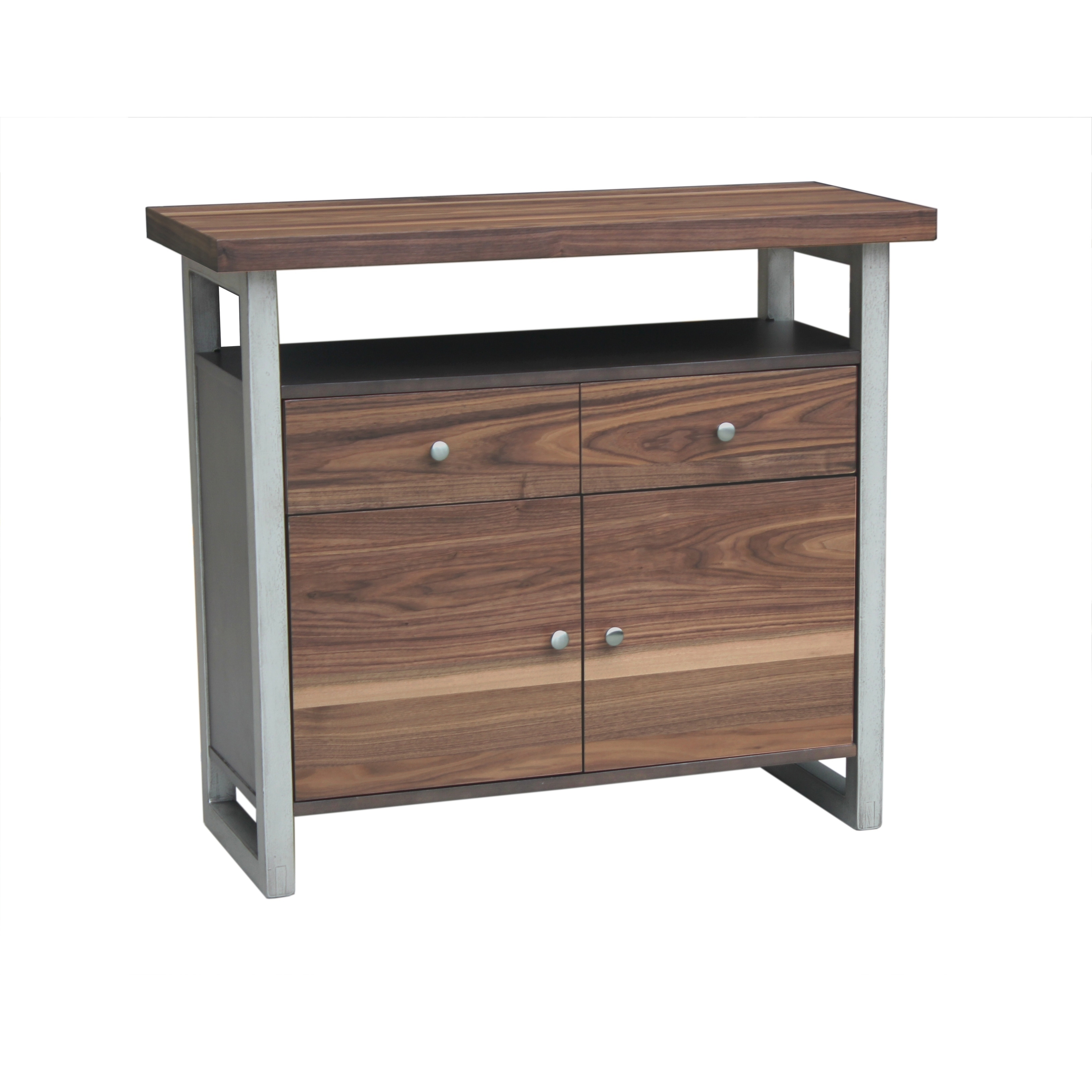 Shop spring creek industrial natural walnut server free shipping today overstock com 22158250