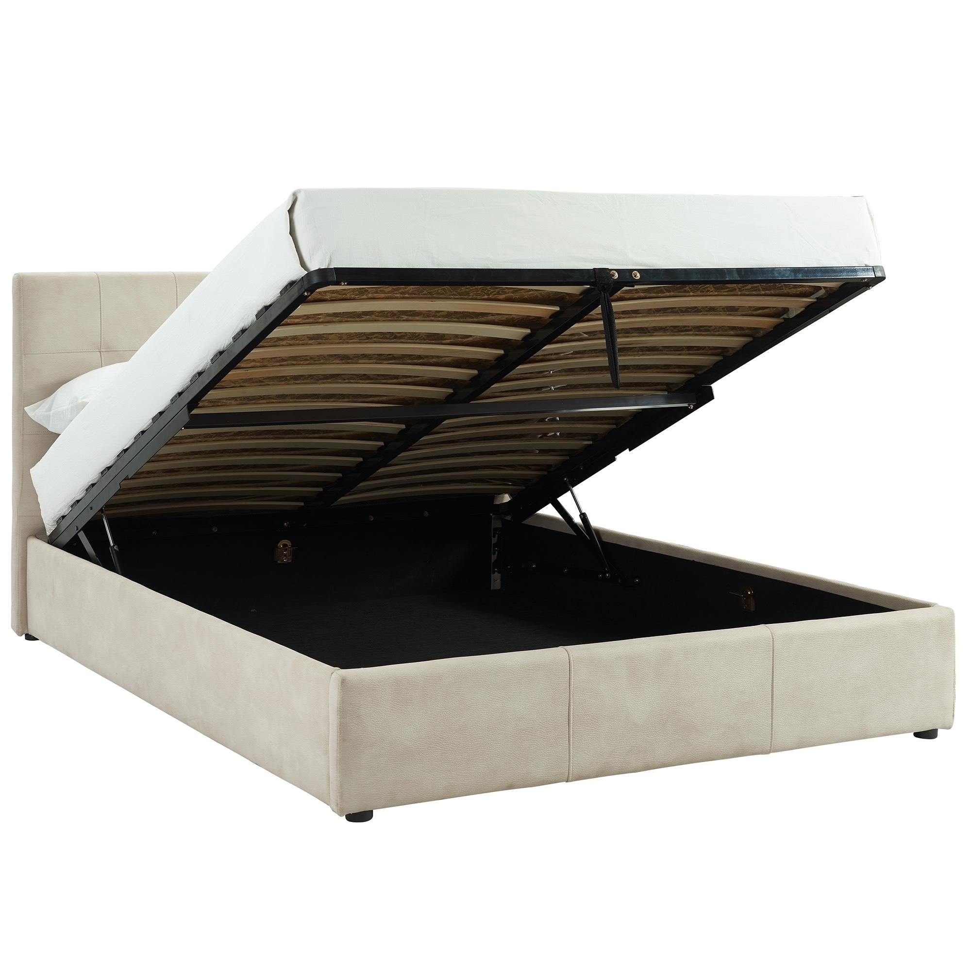 654246fe1e26 Shop Extara-Queen Hydraulic Lift Platform Storage Bed - Free Shipping Today  - Overstock - 22158658
