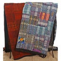 Handmade Blue or Rust Guatemalan Patchwork Quilt (Guatemala)