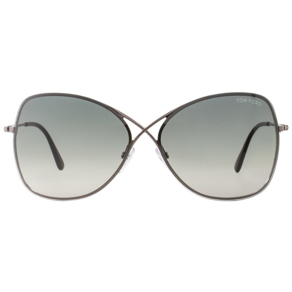 9a65c19090 Shop Tom Ford TF250 Colette 08C Womens Gunmetal Black 63 mm Sunglasses - Free  Shipping Today - Overstock - 22165364