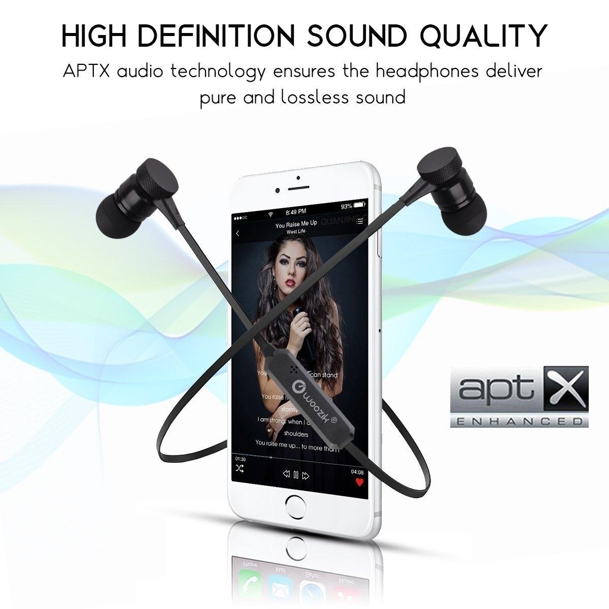 Woozik M900 Bluetooth Headphones Sports Wireless Earbuds Sweatproof Headset  Magnetic attraction Stereo Earphones