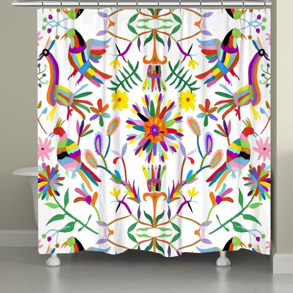 Shop Laural Home Whimsy Folk Art Shower Curtain