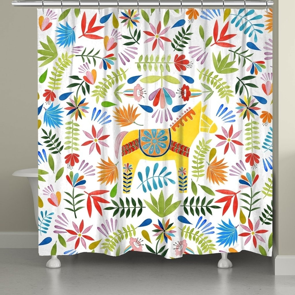 Shop Laural Home Animals At The Fiesta Shower Curtain
