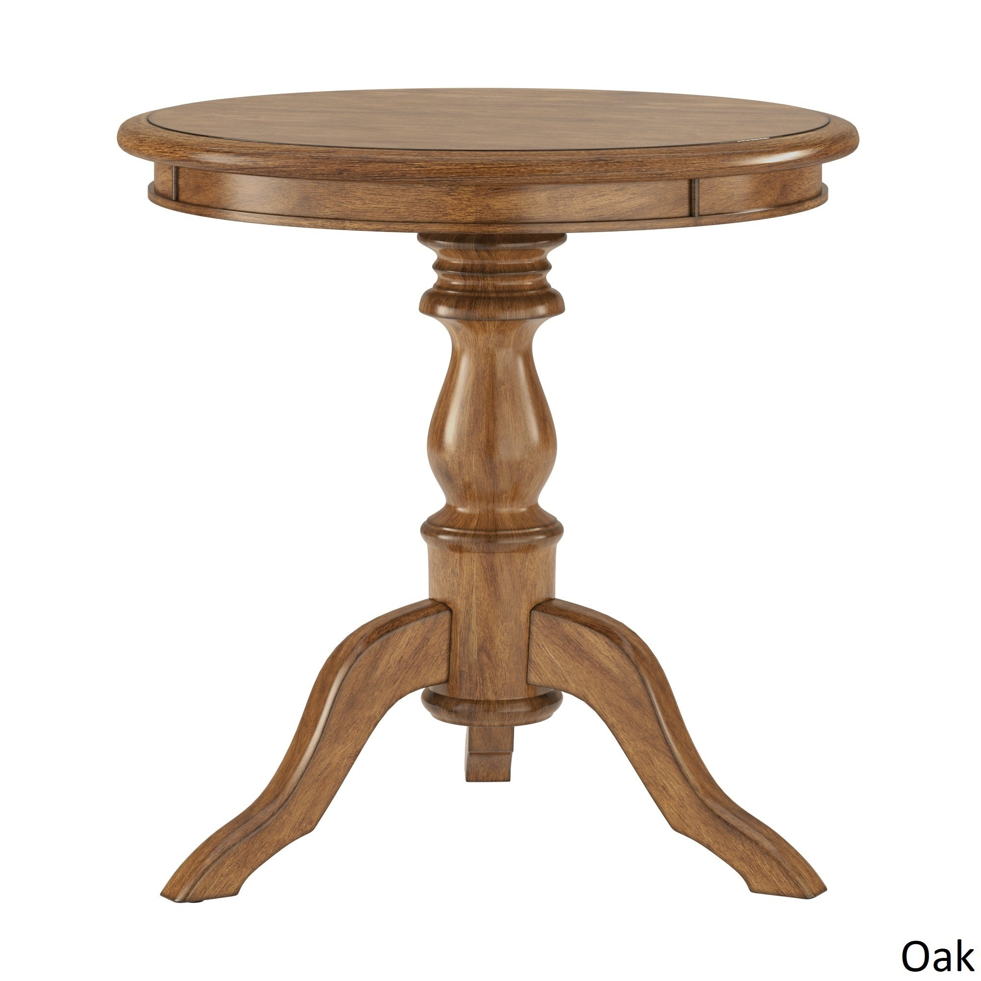 Shop beckett antique wood pedestal accent table by inspire q classic on sale free shipping today overstock com 22195538