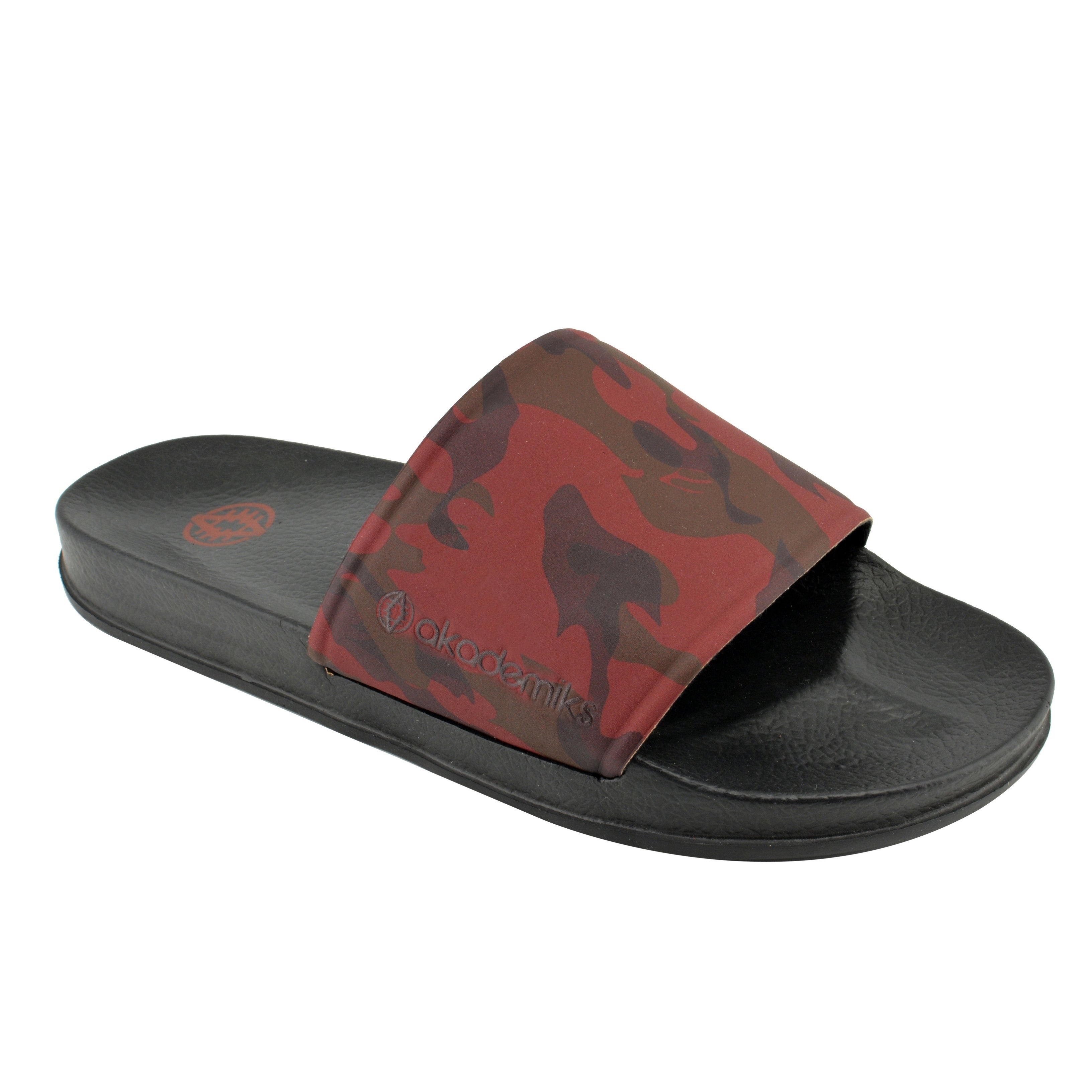 ddee3189c9f8 Shop Akademiks Slides Camouflage Fashion Sandals for Men for Beach ...