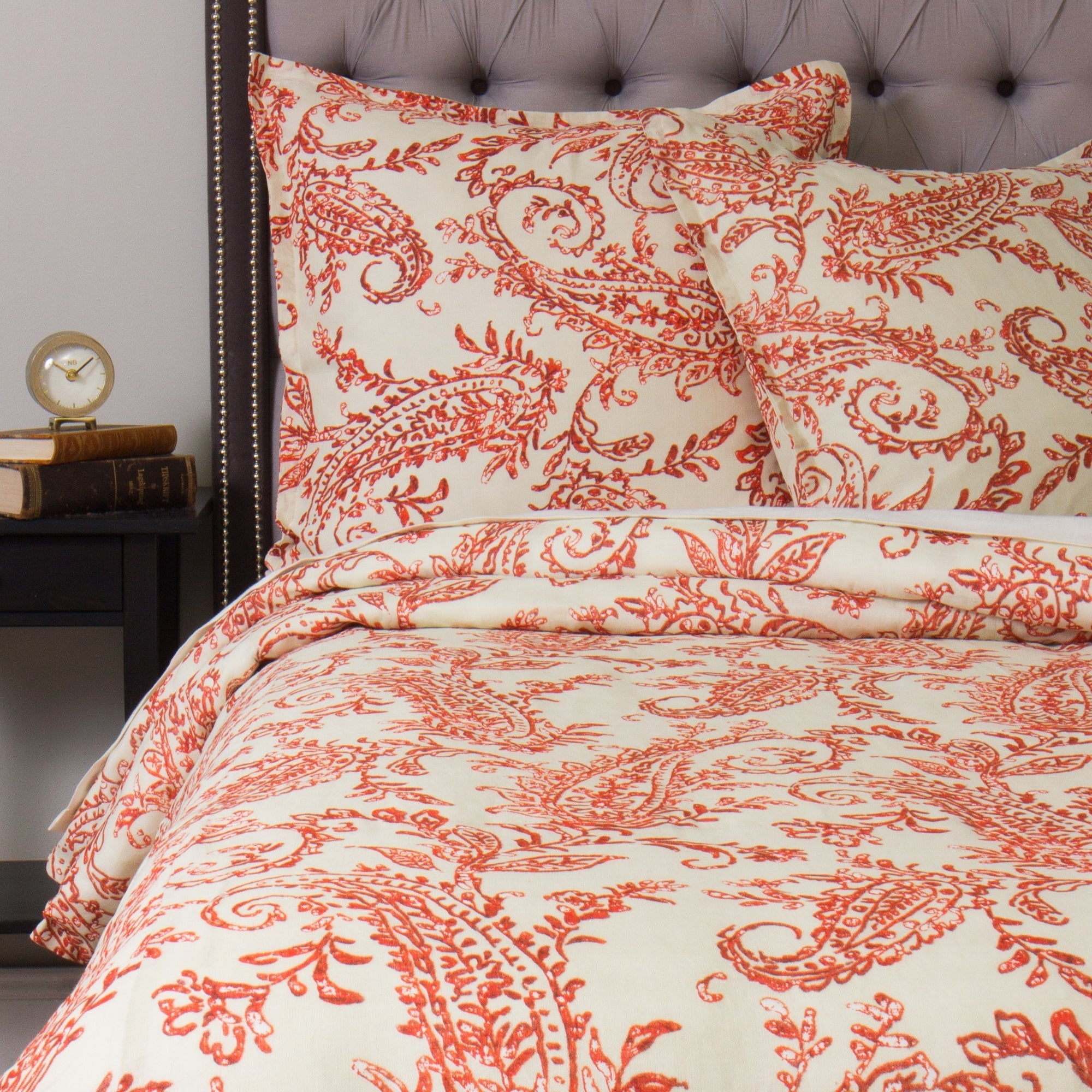 Sierra Orange Paisley Duvet Cover Set On Free Shipping Today 22200498