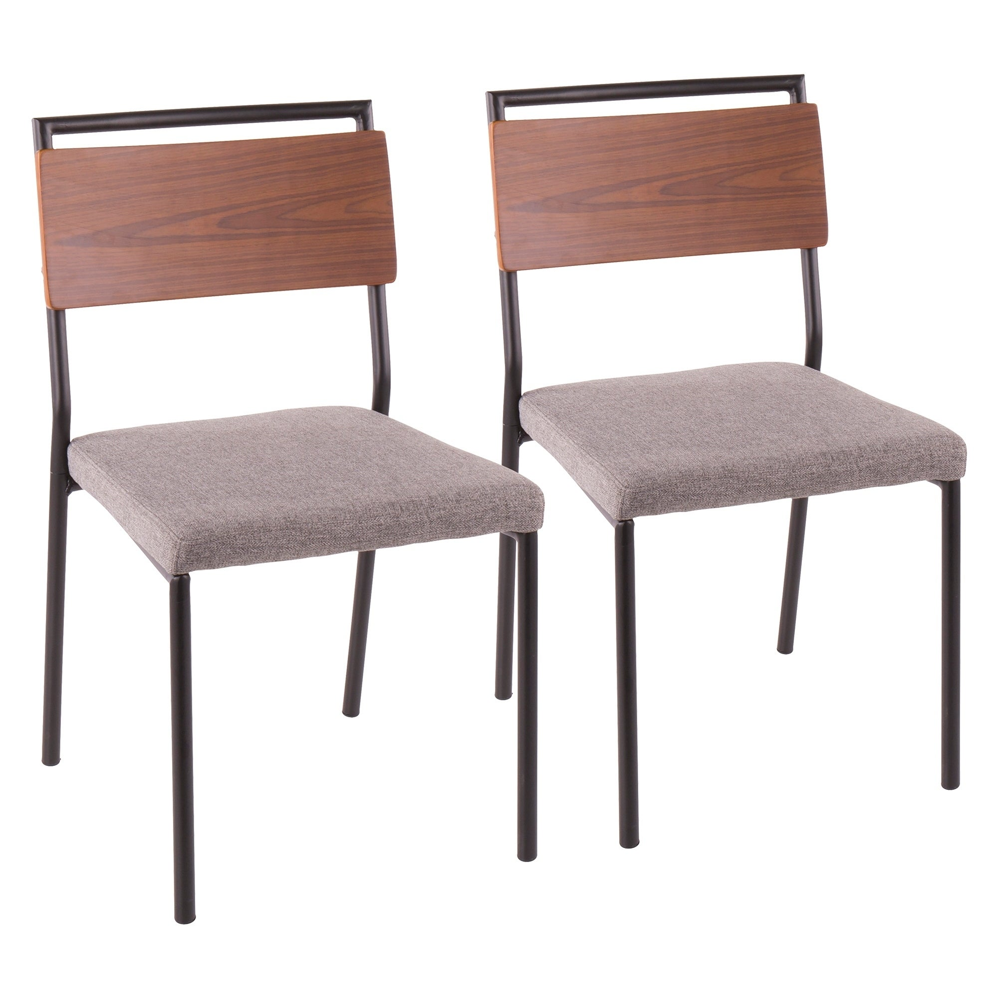 Fiji Upholstered Dining Chair With Wood Accents Set Of 2