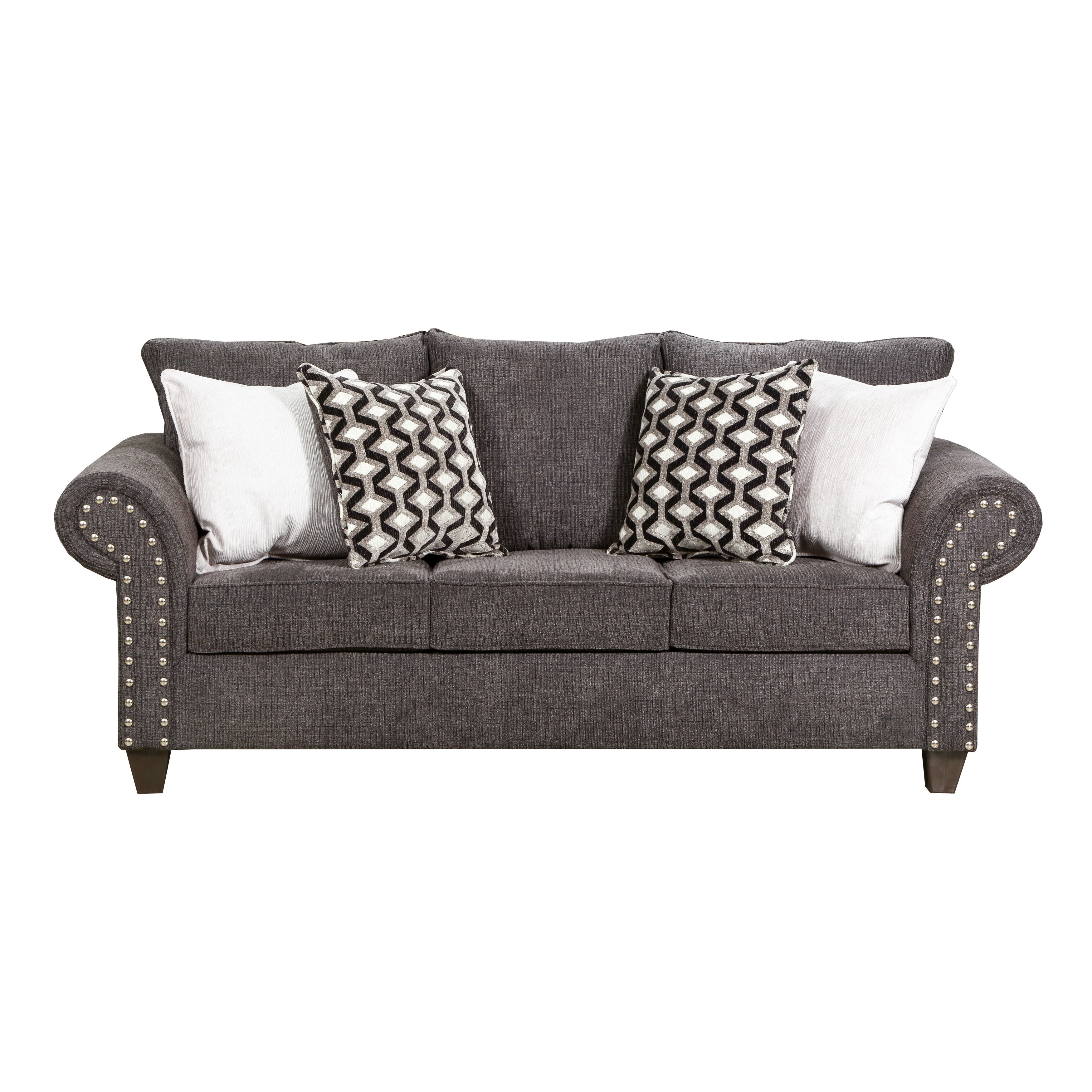 Simmons Upholstery Reed Charcoal Full Sleeper Sofa Free Shipping Today 22231392