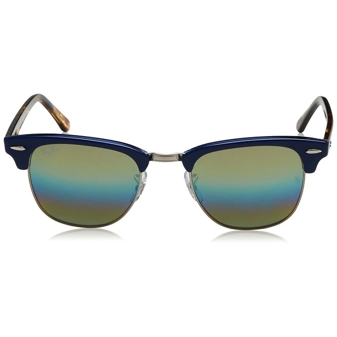 e8a7fc834cf86 Shop Ray-Ban RB3016 Clubmaster Blue Tortoise Frame Gold Rainbow Flash 51mm  Lens Sunglasses - Free Shipping Today - Overstock - 22237884
