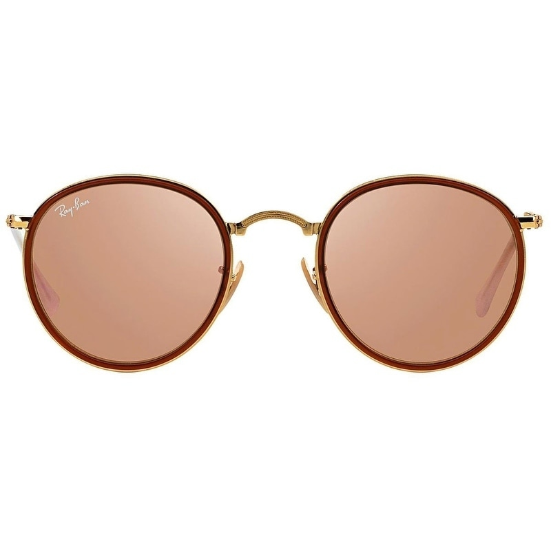 b406df78af Shop Ray-Ban RB3517 001 Z2 Round Folding Gold Frame Copper Flash 48mm Lens  Sunglasses - Free Shipping Today - Overstock - 22237906