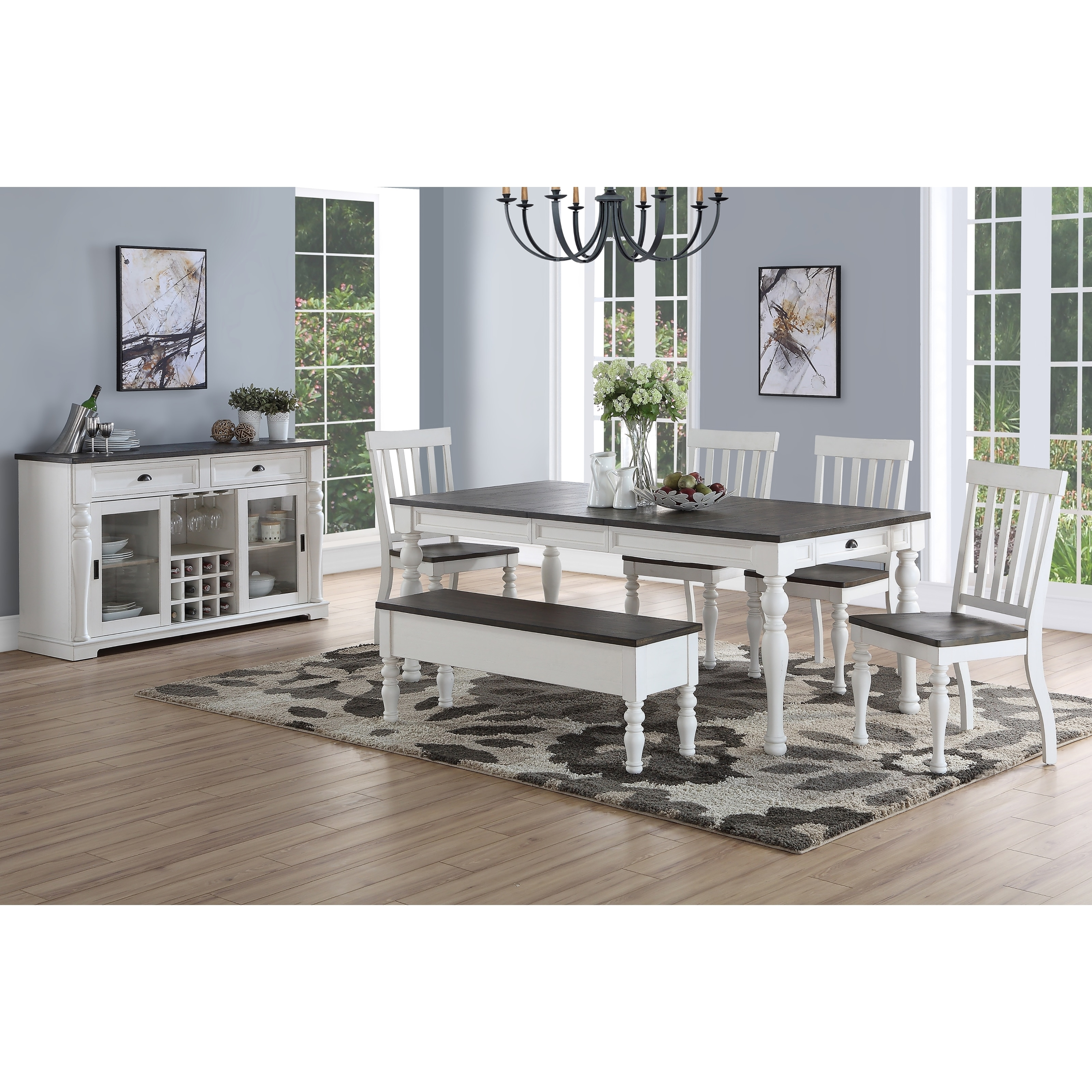 Shop Jillian Farmhouse Two Tone Dining Set By Greyson Living On