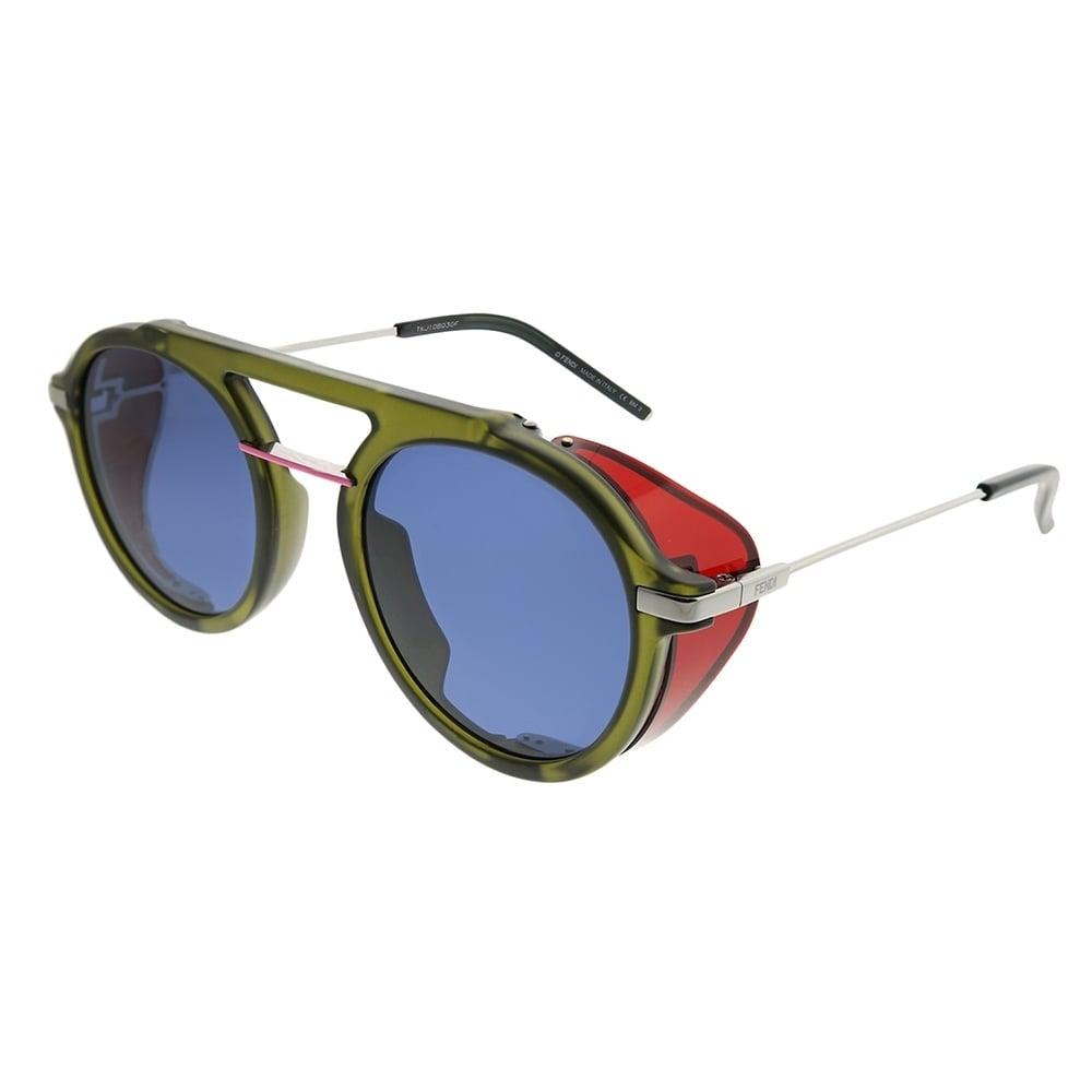 abaaae8cfb56 Shop Fendi Round FF M0012 Fendi Fantastic 1ED KU Unisex Green Frame Blue  Avio Lens Sunglasses - Ships To Canada - Overstock - 22255466