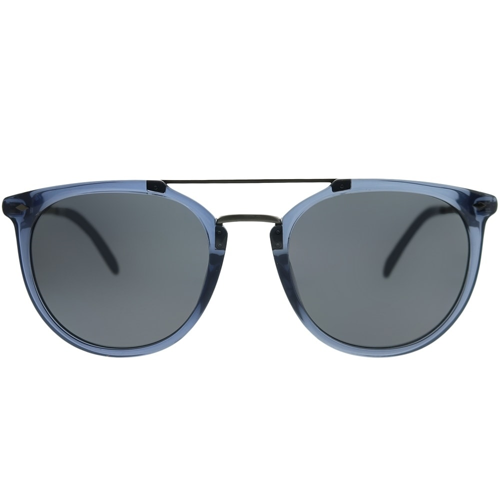 918beebead65 Shop Fossil Square 3077/S B88 IR Unisex Blue Silver Frame Grey Blue Lens  Sunglasses - Free Shipping Today - Overstock - 22255467
