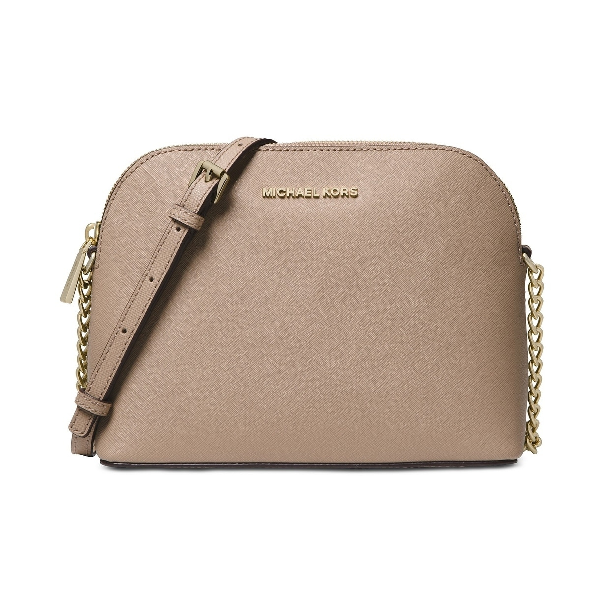 4b5179320050 Shop MICHAEL Michael Kors Cindy Large Dome Crossbody Truffle - On Sale -  Free Shipping Today - Overstock - 22277046