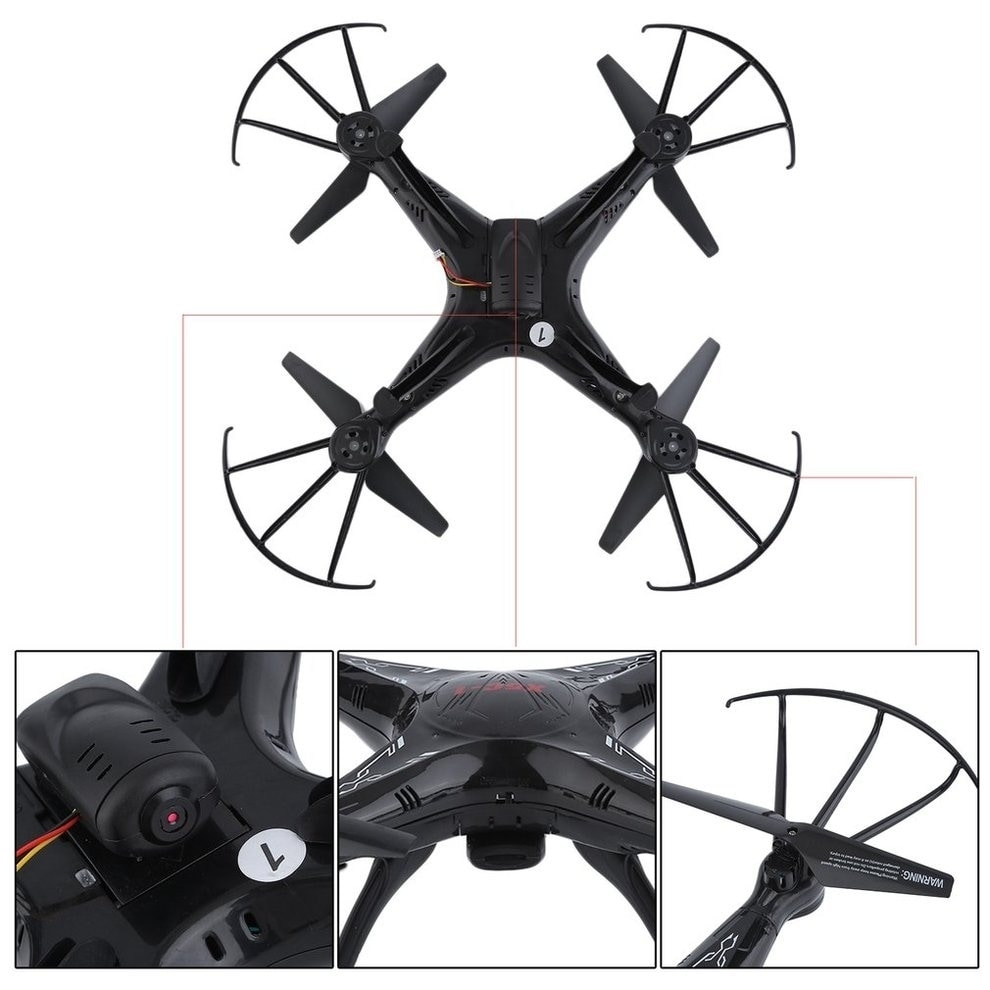 Quadcopter Drone HD Camera Remote Control Aircraft Pocket Helicopter