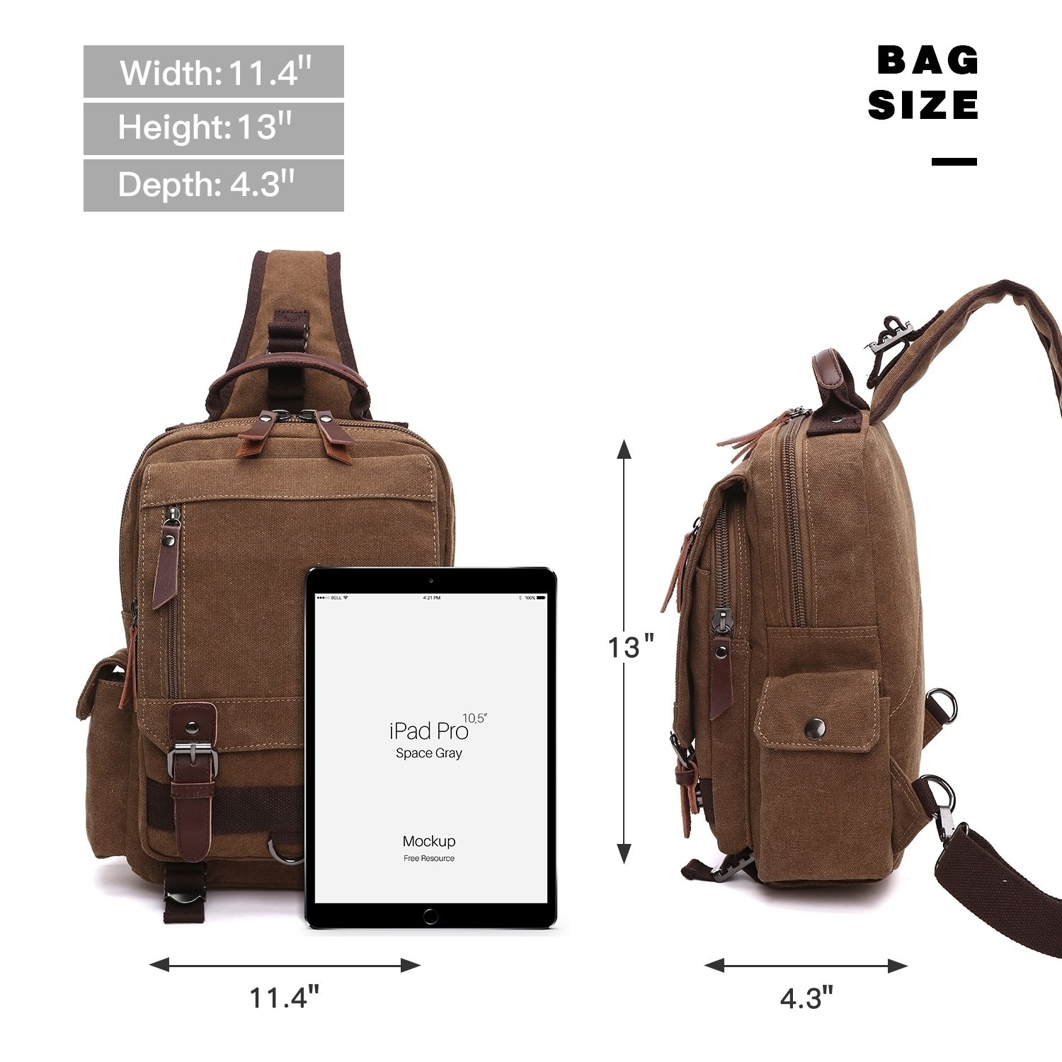 7b3907462b Shop Dasein Vintage Unisex Medium Size Canvas Backpack- Single strap Sling  Bag – On Sale – Free Shipping On Orders Over  45 – Overstock.com – 22277573