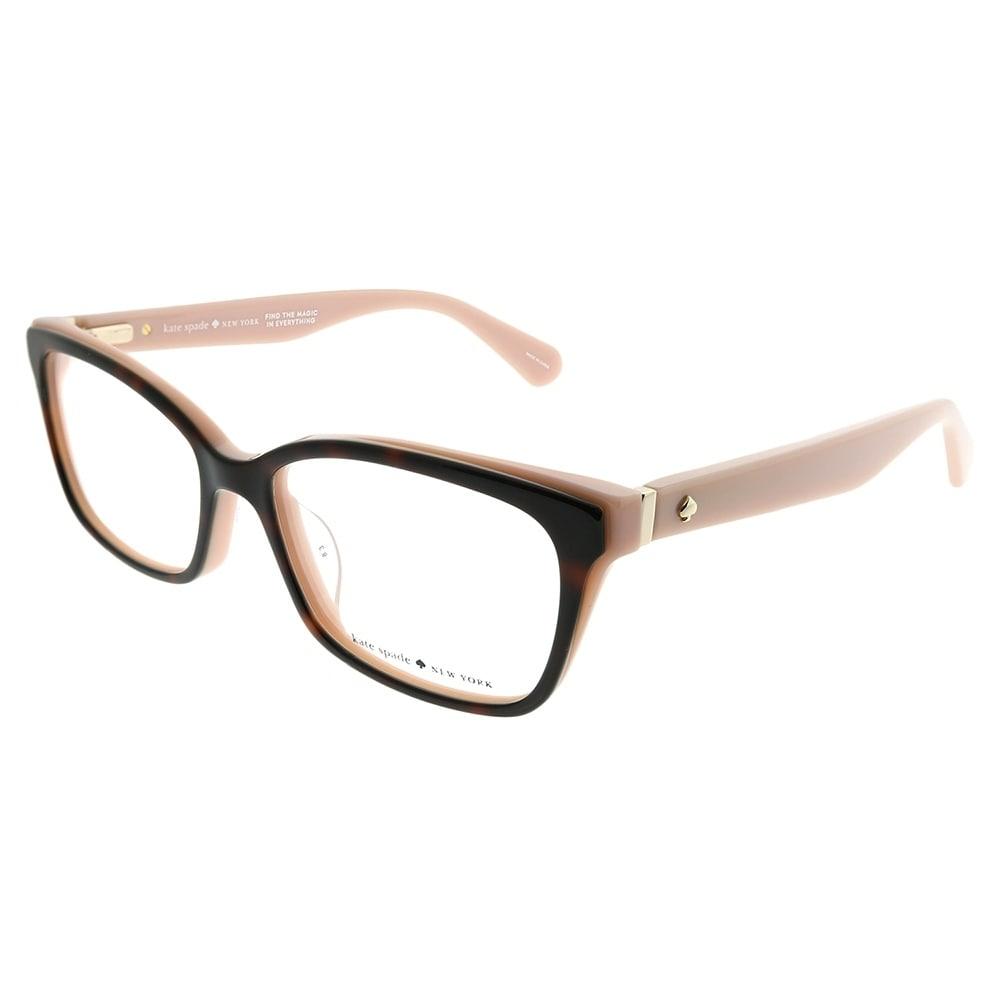 3343bf6448580 Kate Spade Rectangle KS Jeri OO4 Women Havana Red Coral Frame Eyeglasses