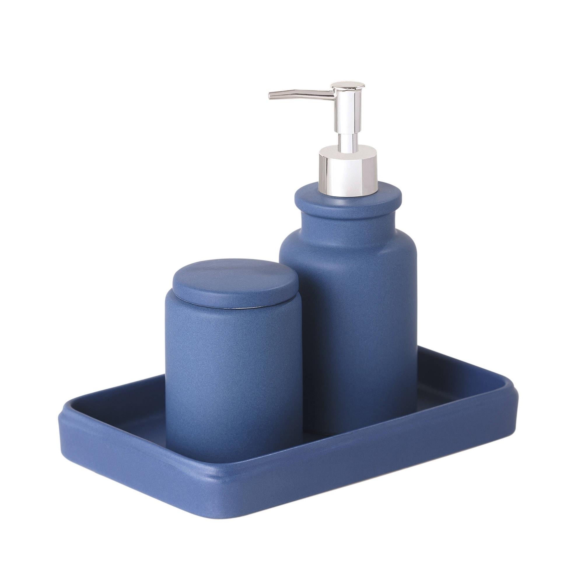 Shop Sparrowhawk Skylar Solid Color 3-Piece Bath Accessory Set ...