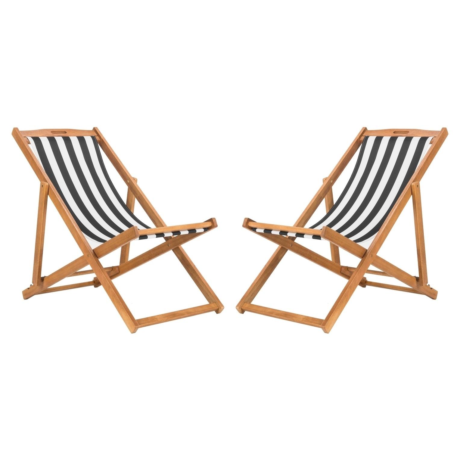 Shop Safavieh Outdoor Living Loren Foldable Sling Chair Black