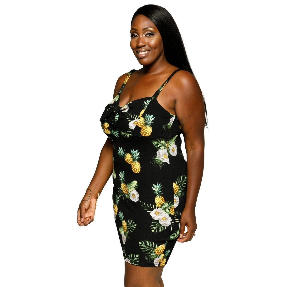 3ef3ae0df02 Shop Xehar Womens Plus Size Sexy Sleeveless Pineapple Print Bodycon Dress -  On Sale - Free Shipping On Orders Over  45 - Overstock.com - 22286964