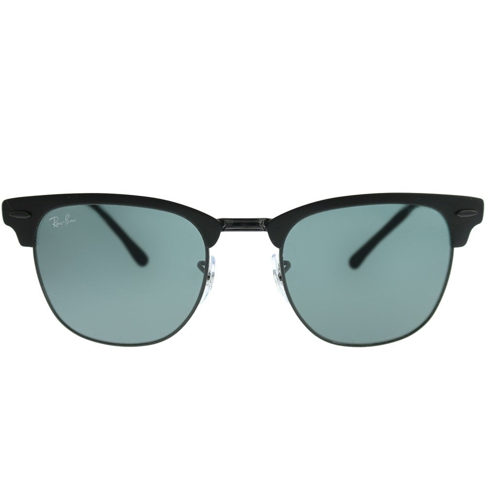 15dd948b1ef Shop Ray-Ban Clubmaster RB 3716 Clubmaster Metal 186 R5 Unisex Matte Black  on Shiny Black Frame Blue Lens Sunglasses - On Sale - Free Shipping Today  ...