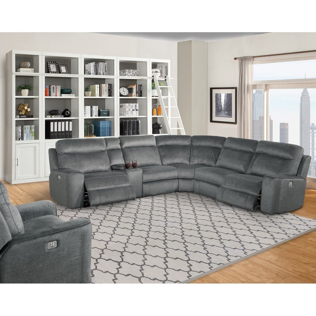 Lester Grey Reclining Sectional Sofa Free Shipping Today 22292573