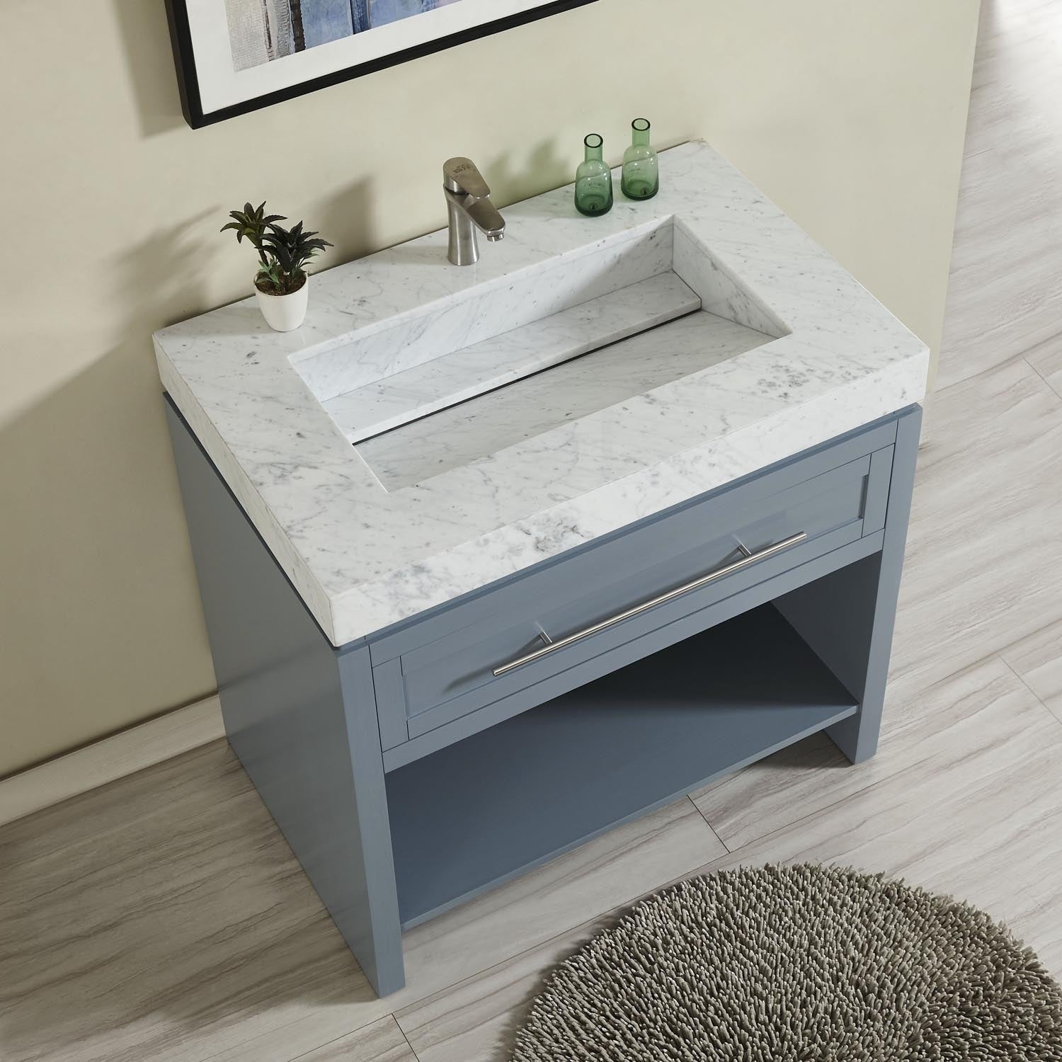 Silkroad Exclusive 36 W X 23 D 3 5 H Vanity Top With Integrated Sink Free Shipping Today 27949759
