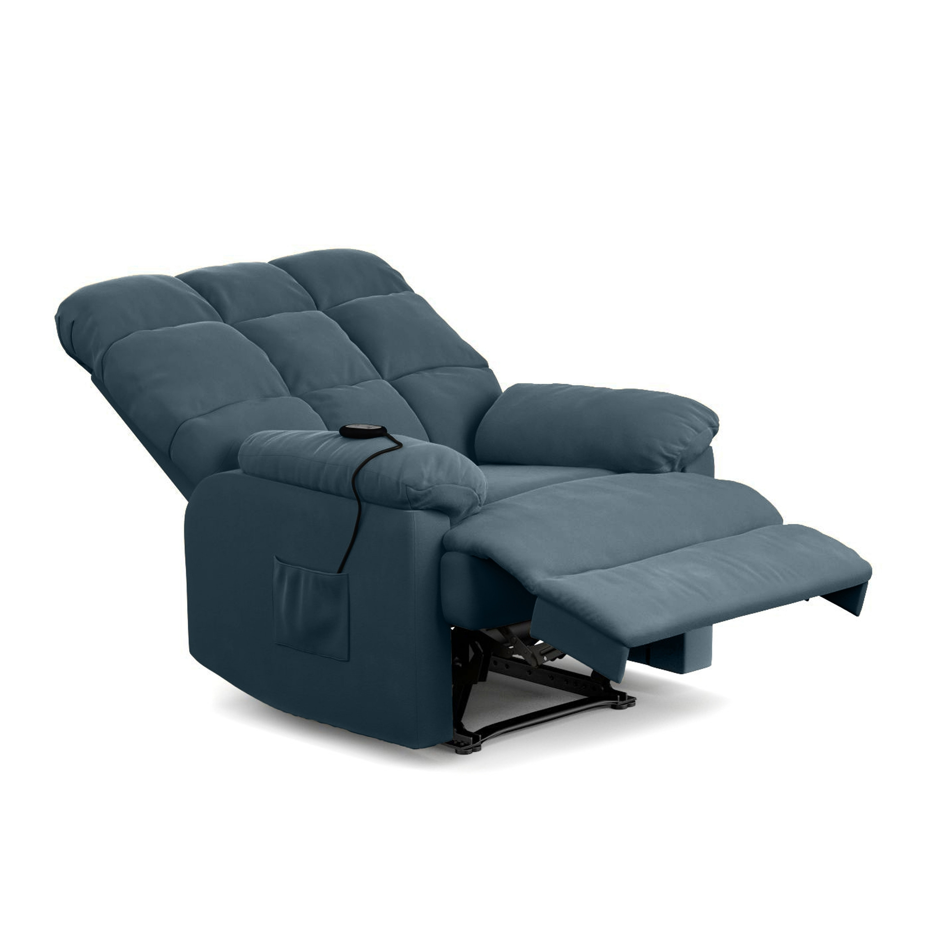 e21e57cb6f2 Shop ProLounger Power Recline and Lift Wall Hugger Chair in Blue Microfiber  - On Sale - Free Shipping Today - Overstock - 22309069