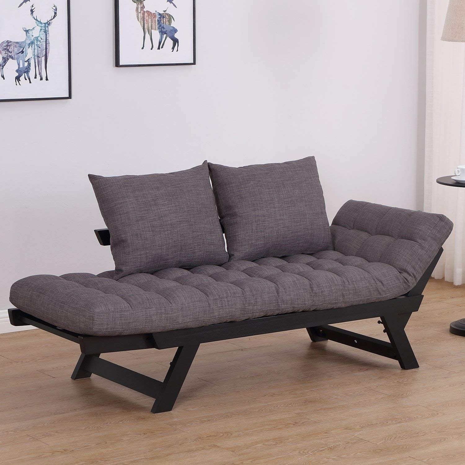 Picture of: Single Person 3 Position Convertible Couch Chaise Lounger Sofa Bed On Sale Overstock 22310281