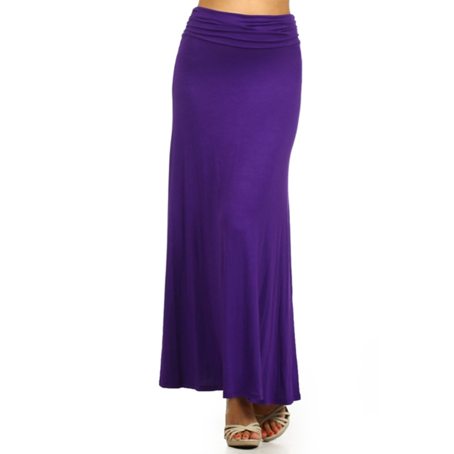 9ec9d1a56 Shop Women's Solid Relaxed Fit A-Line Maxi Skirt - On Sale - Free Shipping  On Orders Over $45 - Overstock - 22334167