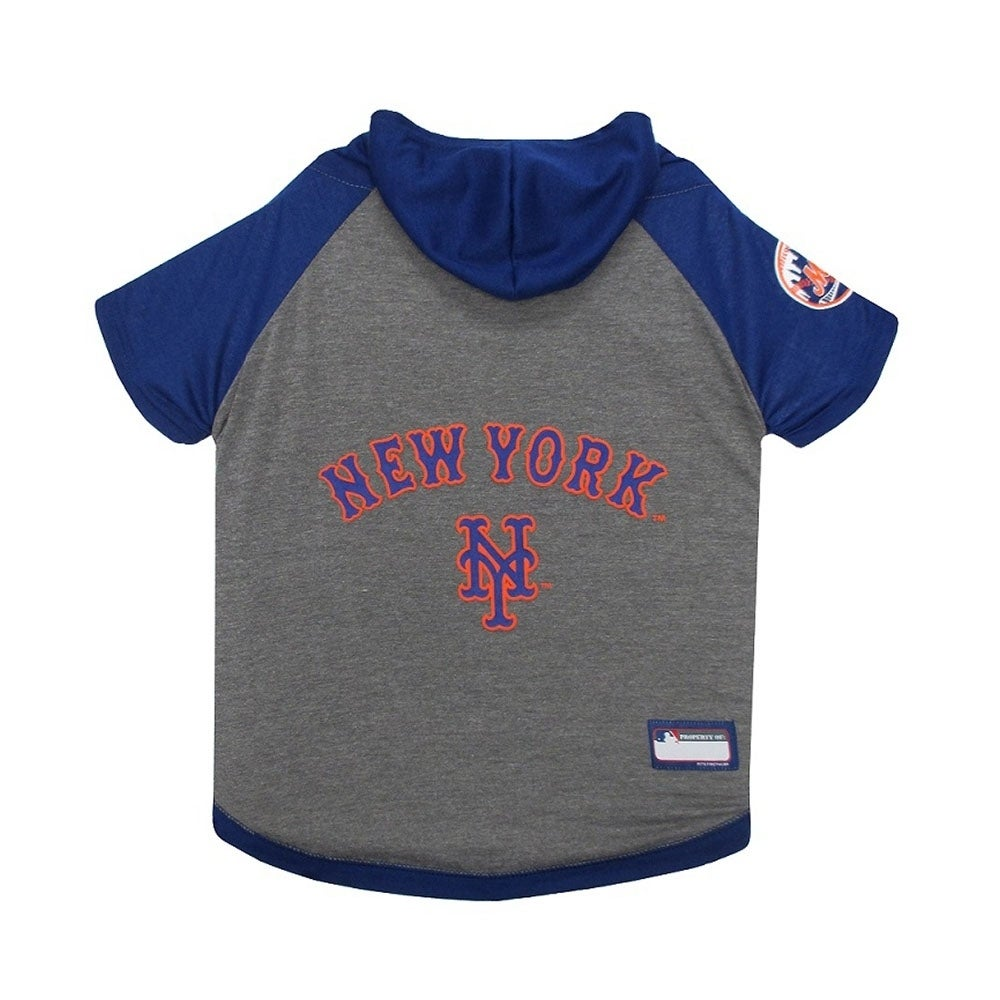 0e02a8d61 Shop Pets First MLB New York Mets Sports Team Logo Hoody Dog Tee - Medium -  Free Shipping On Orders Over  45 - Overstock - 22341963