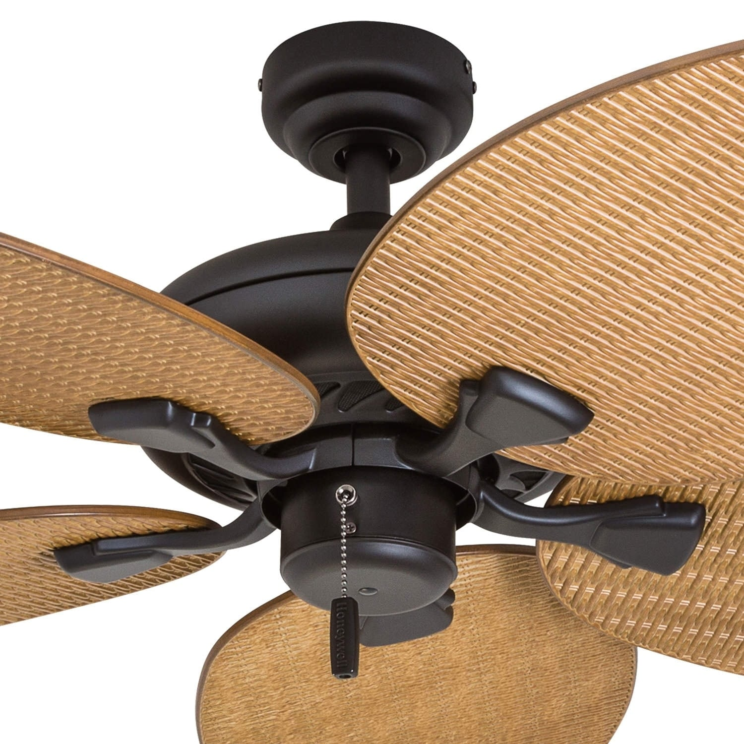 Honeywell Palm Valley 52 Bronze Tropical Ceiling Fan With Leaf Blades Free Shipping Today 22344580