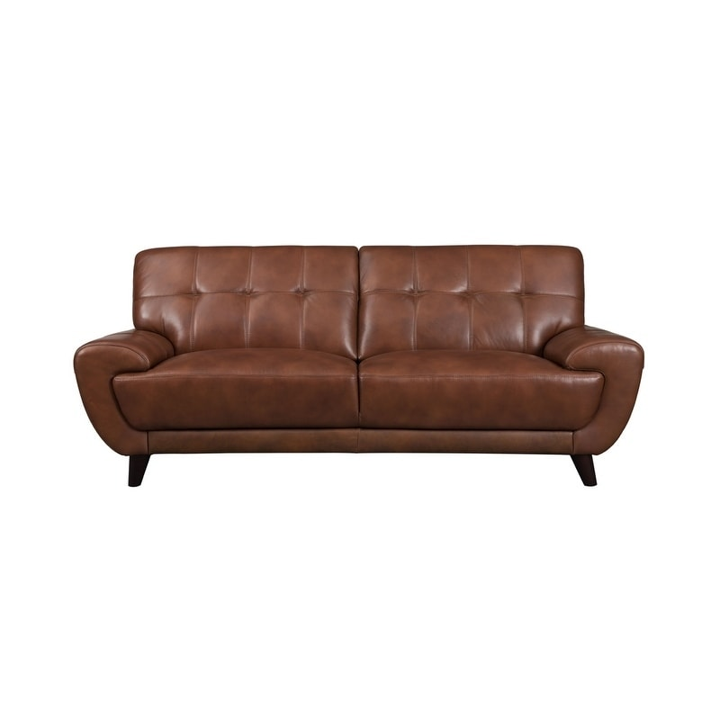 Nicole Leather Craft Sofa Free Shipping Today 22349431