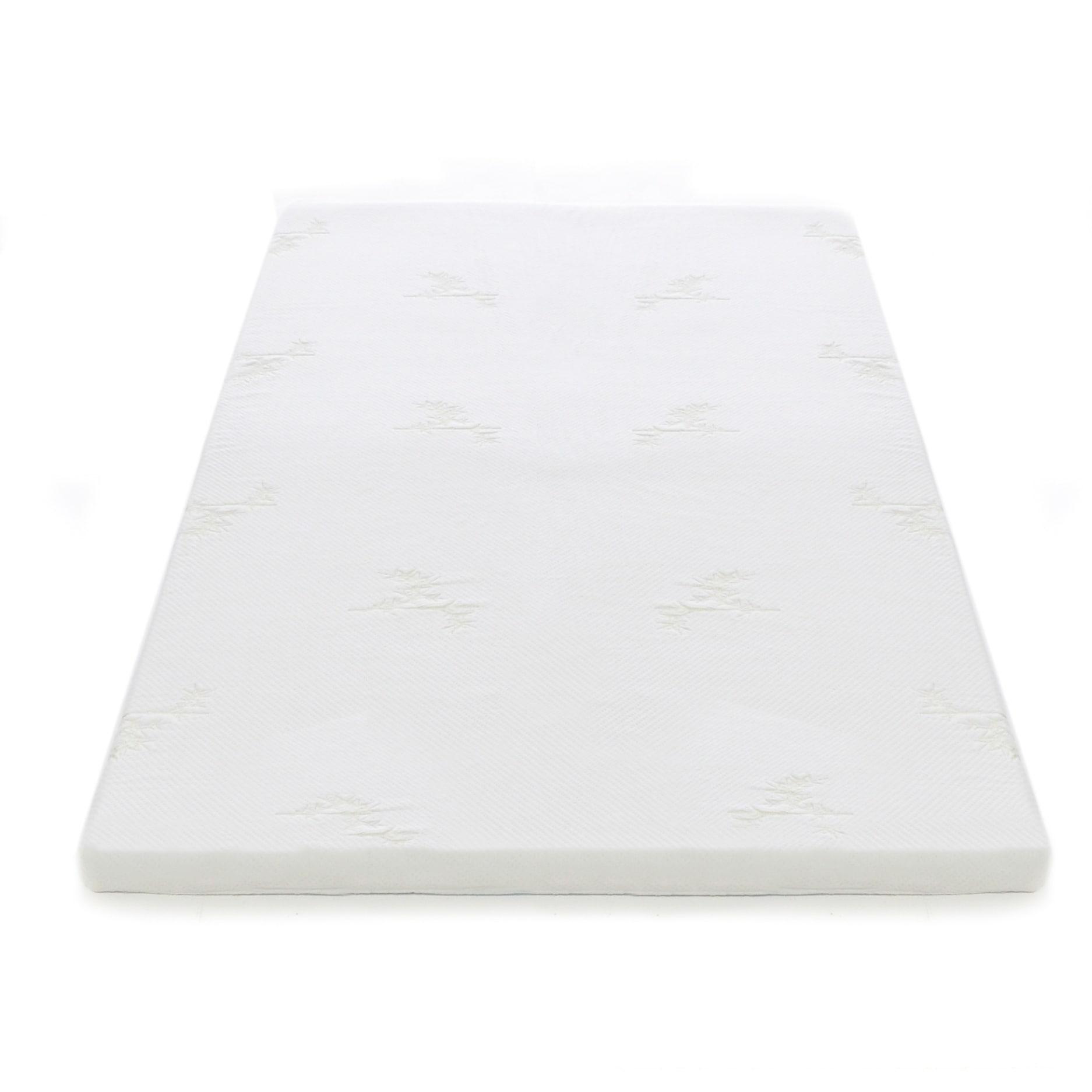 Shop Milliard 2 Inch Gel Memory Foam Mattress Topper With Cover On