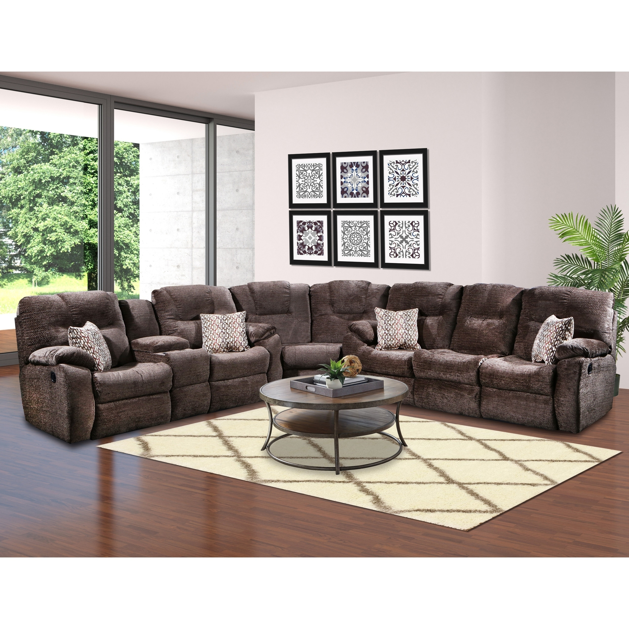 Southern Motion Avalon Reclining Sectional Sofa Free Shipping