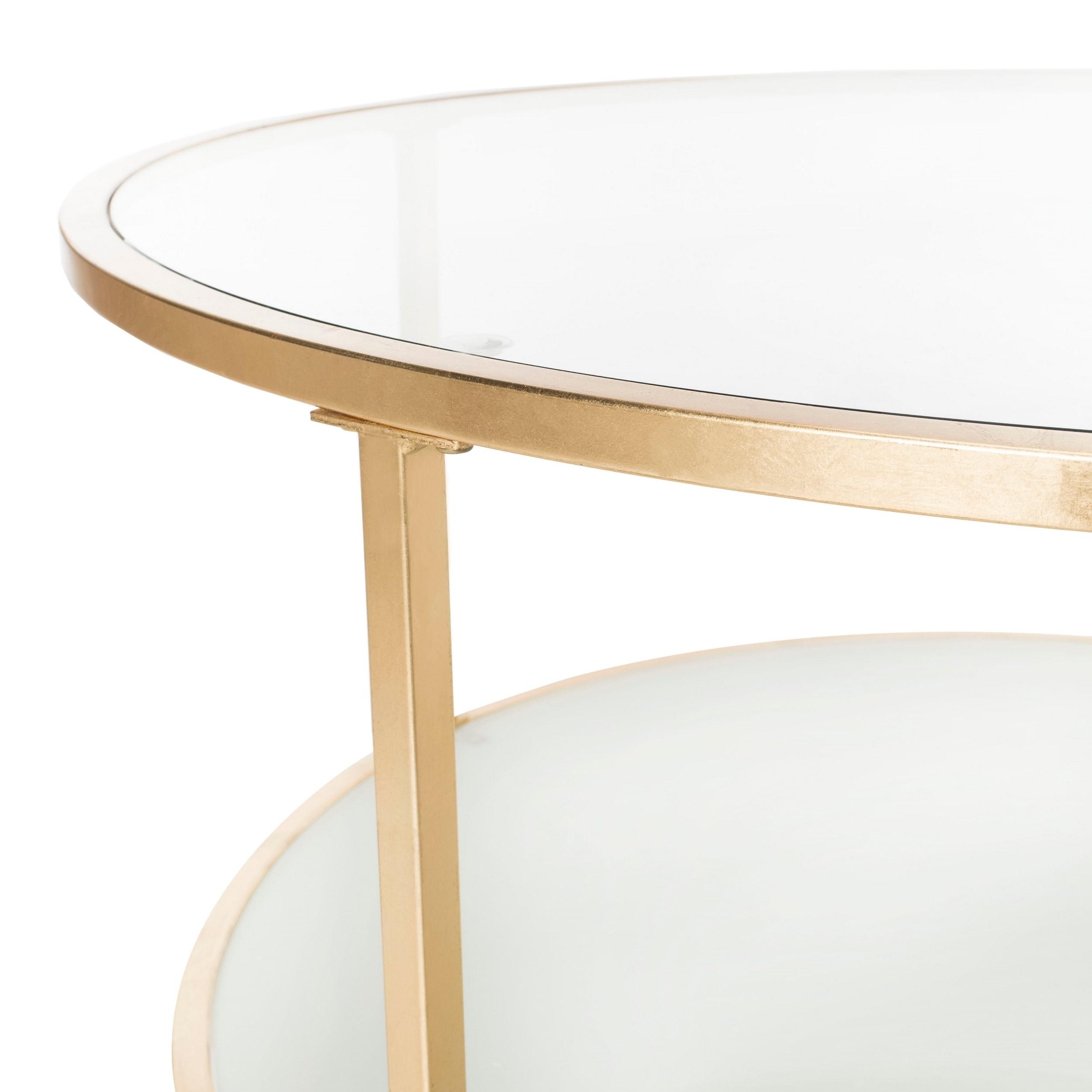 Shop Safavieh Ivy Tier Round Coffee Table Clear Gold Free - 2 tier round coffee table