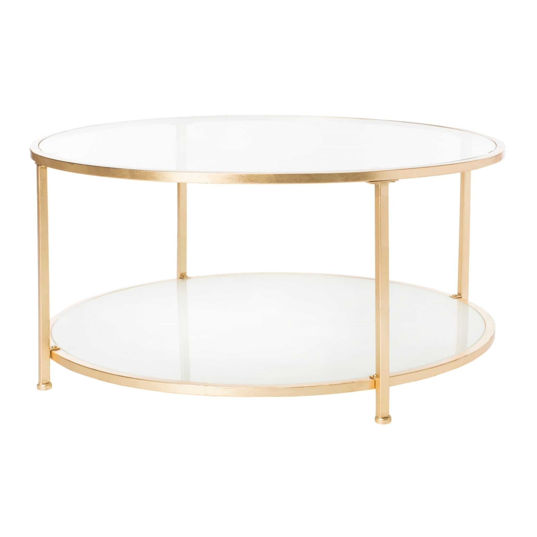Safavieh Ivy 2 Tier Round Coffee Table Clear Gold Free Shipping Today 22363824