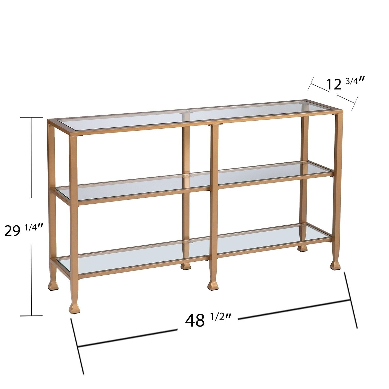 Shop Harper Blvd Jensen Narrow Metal Console Table W Glass Shelves - Metal table with shelves