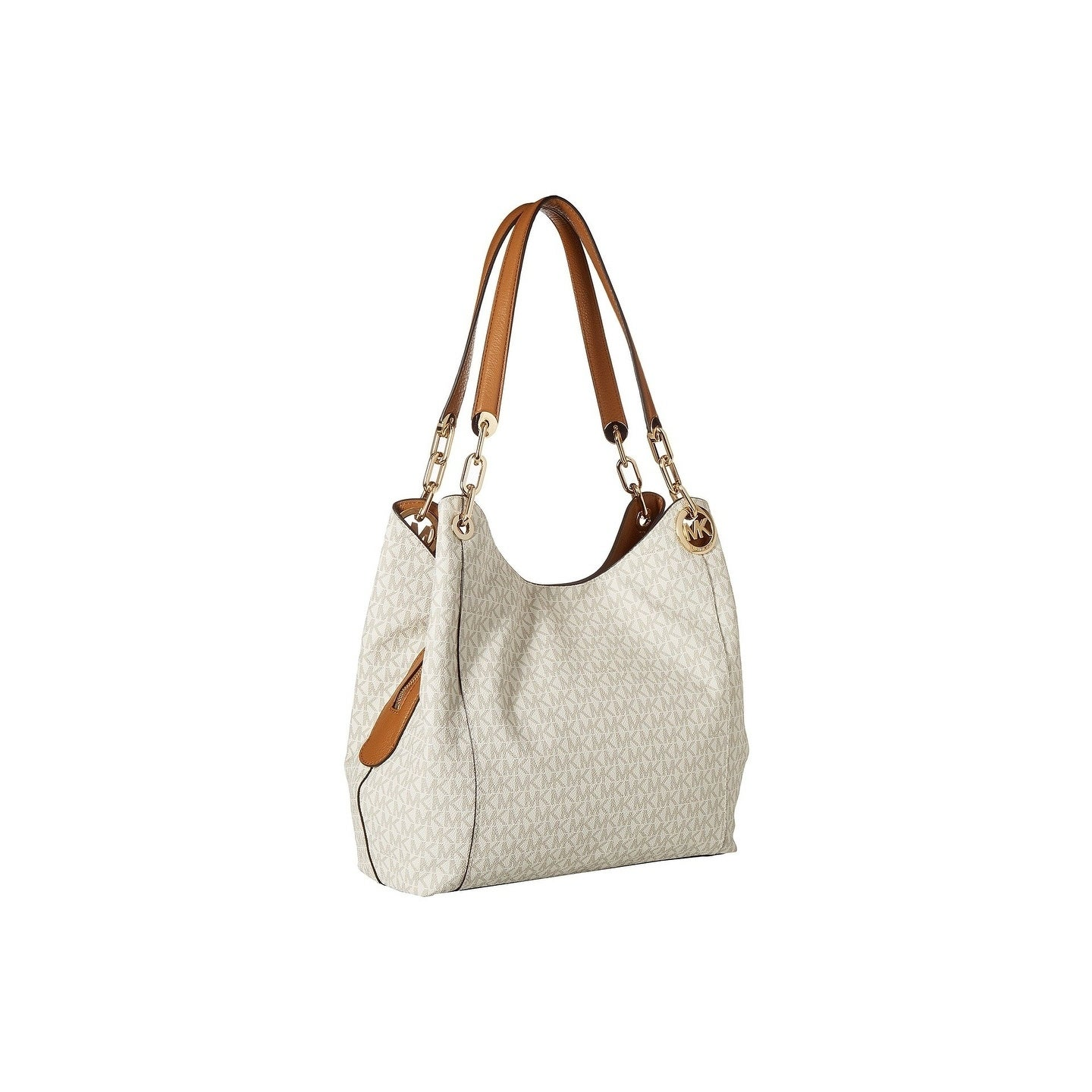 8eb86fd40a8127 Shop MICHAEL Michael Kors Fulton Large Charm Shoulder Tote - On Sale - Free  Shipping Today - Overstock - 22364259