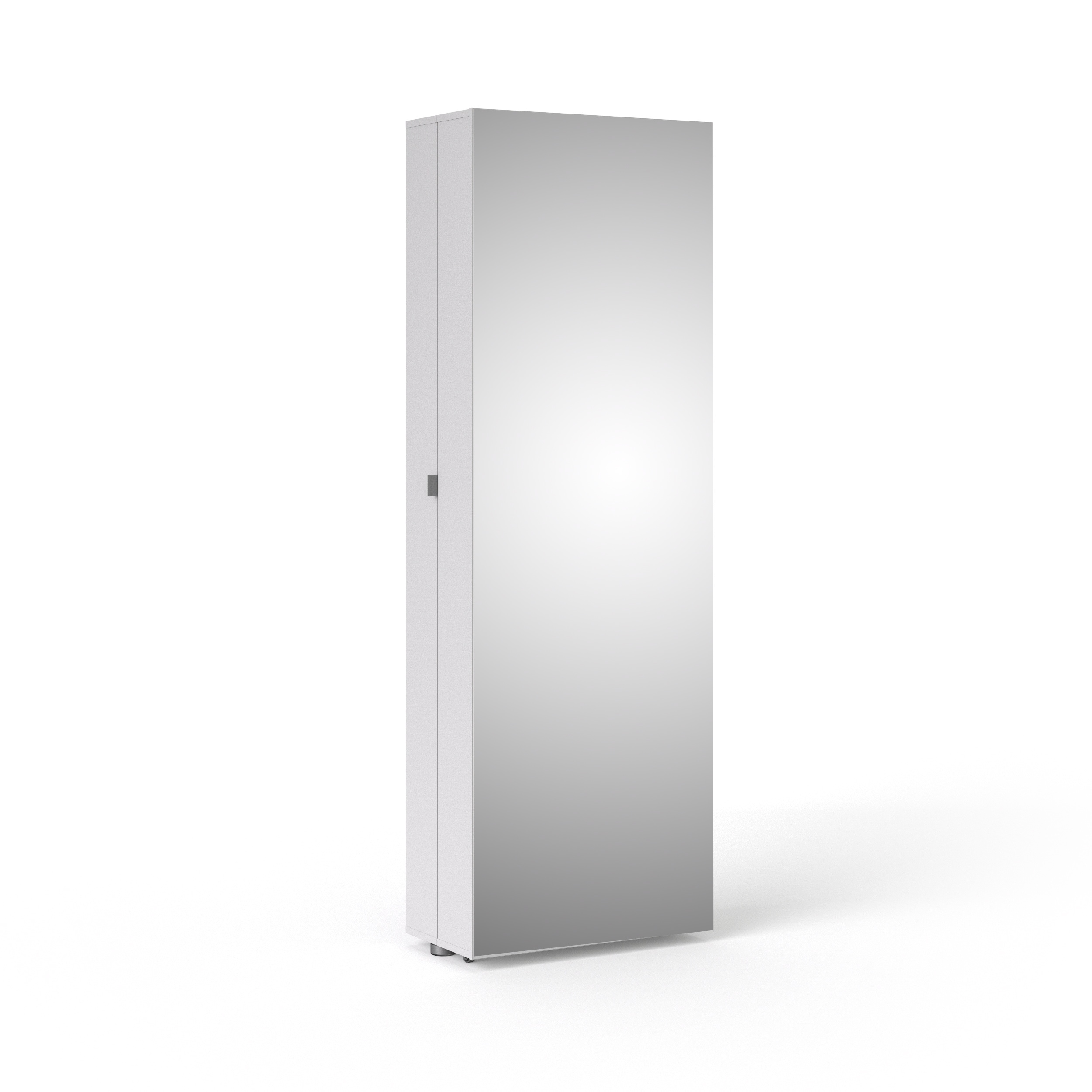 Magnificent Bright White Shoe Cabinet With Mirror Door Download Free Architecture Designs Grimeyleaguecom
