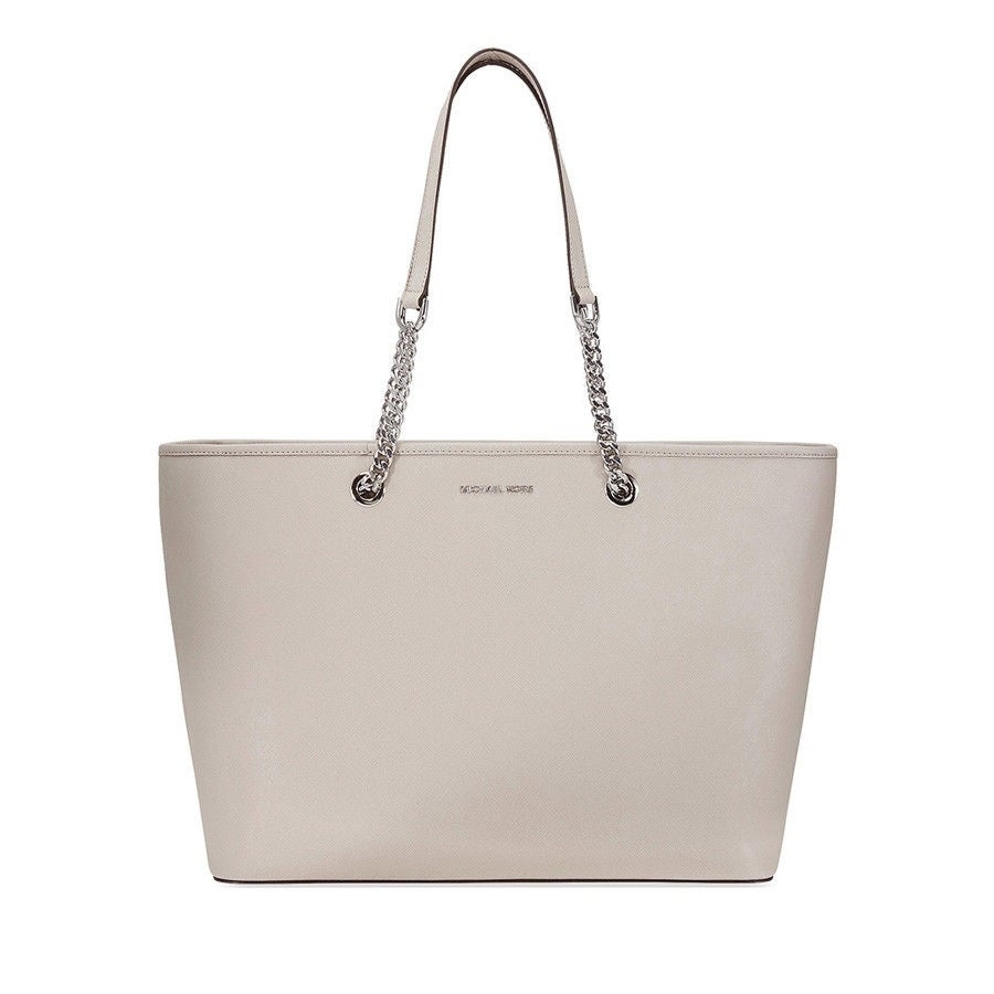 8fe1e7a5690c Shop MICHAEL Michael Kors Jet Set Travel Chain Tote - Cement - On Sale -  Free Shipping Today - Overstock - 22365659
