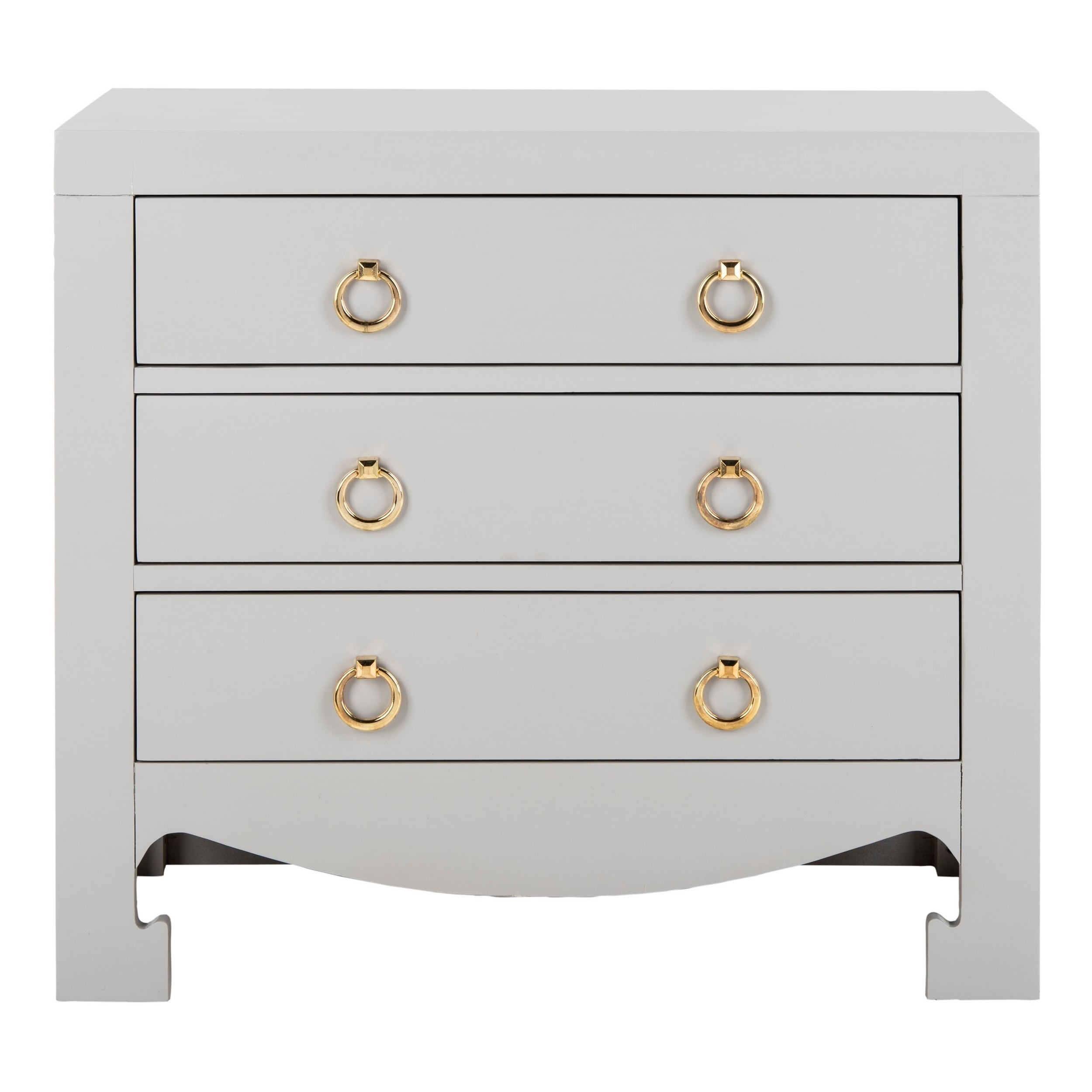 Safavieh Dion 3 Drawer Chest Grey Gold Free Shipping Today 22367121