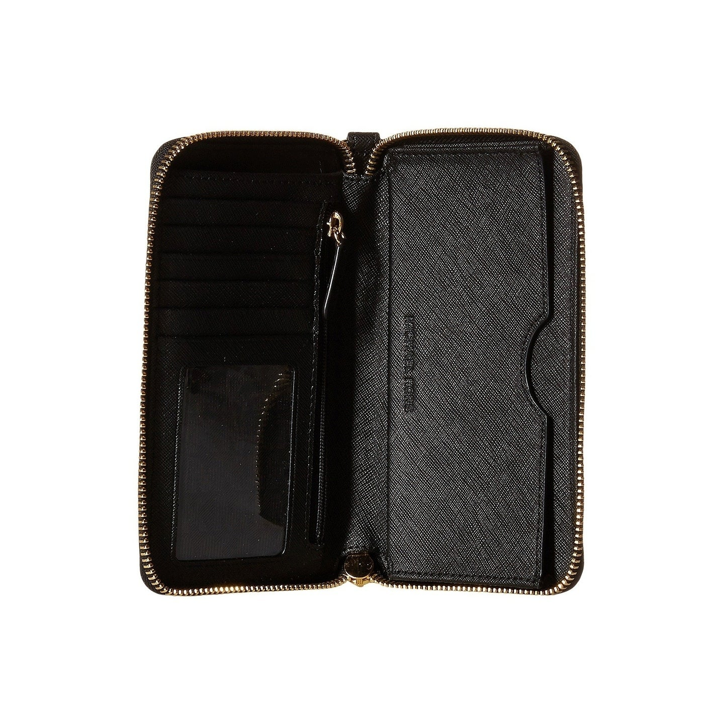 16bf46549032 Shop MICHAEL Michael Kors Black Large Flat Phone Wristlet - On Sale - Free  Shipping Today - Overstock - 22369373