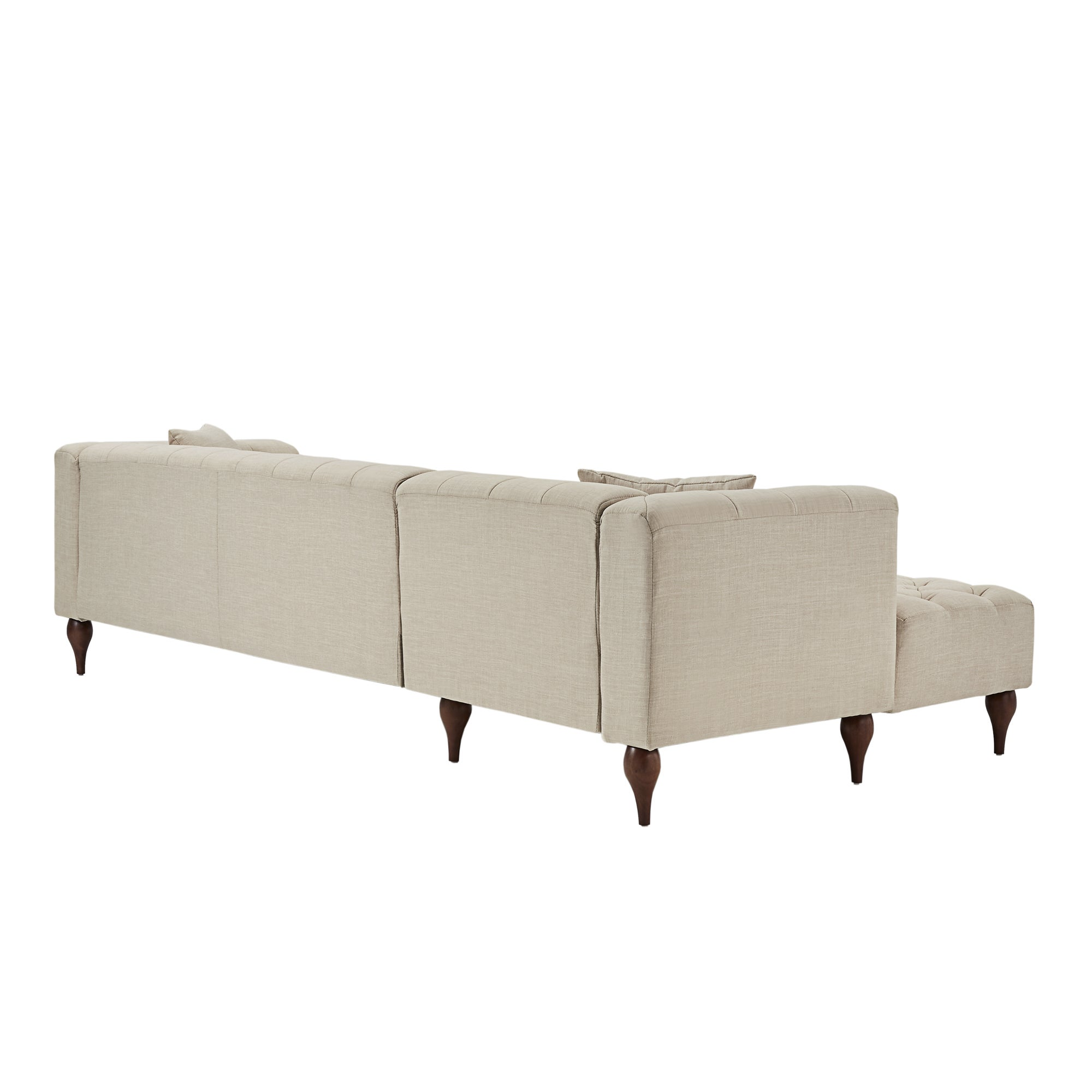 Shop Danise Tufted Linen Upholstered Tuxedo Arm 4-Seat Sofa and ...