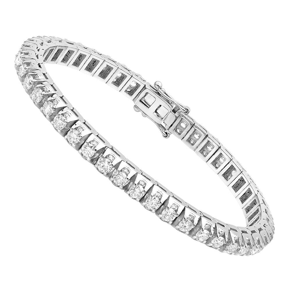 8 Carat Diamond Tennis Bracelet For Men & Women in 8k Gold by Luxurman